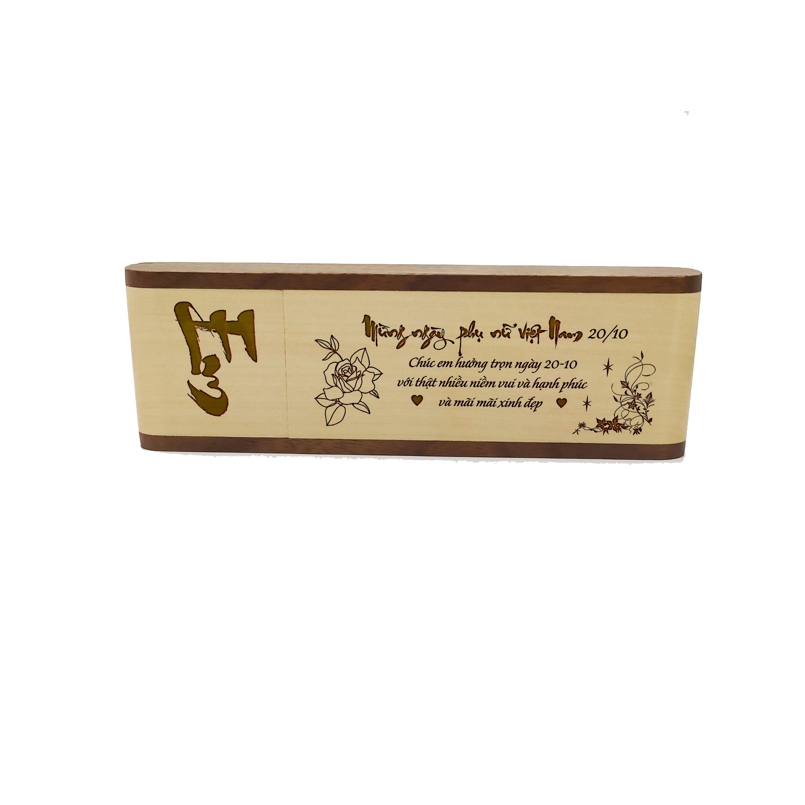 Bút gỗ cao cấp làm quà tặng ngày 20/10 (Kiểu hộp đứng)