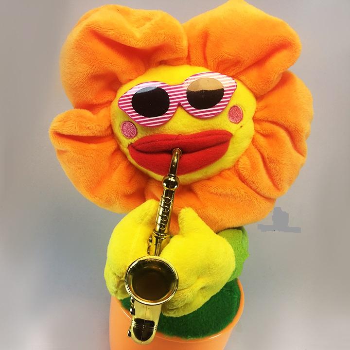 Loa nghe nhạc Bluetooth hình chậu hoa uốn éo thổi kèn Saxophone