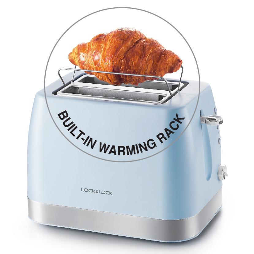 Hình ảnh Máy Nướng Bánh Mì Lock& Lock EJB221BLU (730 - 870 W) - Hàng chính hãng