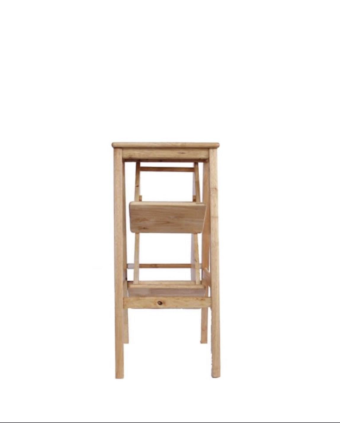 Ghế thắp nhang gỗ cao su tự nhiên  gấp 3 tầng cao 85cm - TL223