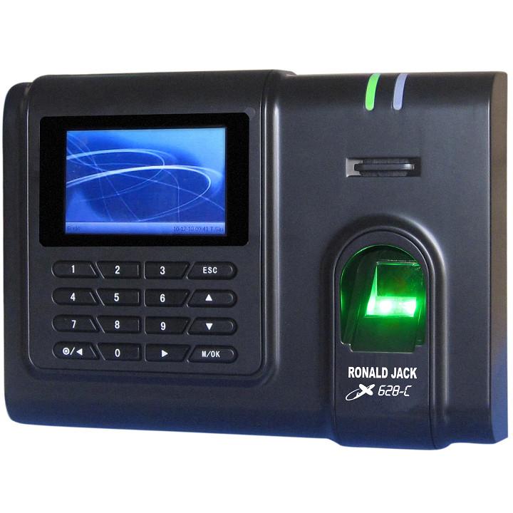 Máy chấm công vân tay và thẻ cảm ứng RONALD JACK X628-C mẫu mới 2019 ( Hàng chính hãng)
