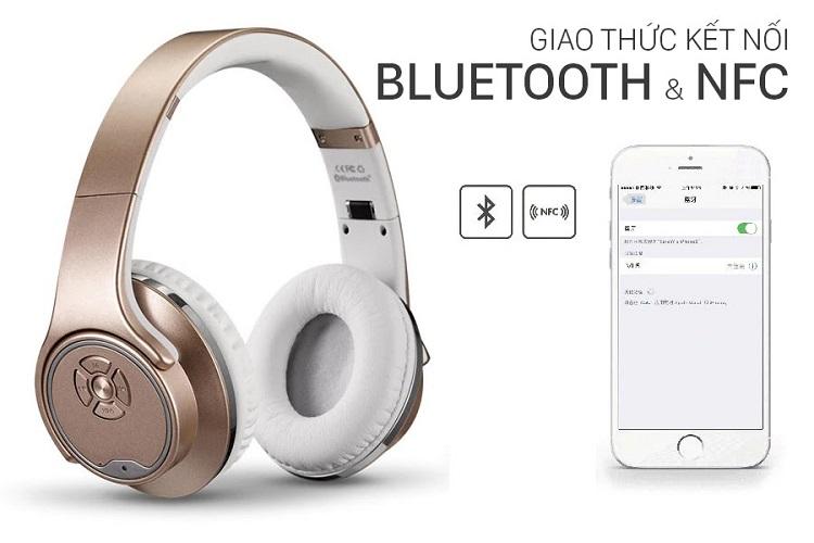 Tai Nghe Chụp Tai Bluetooth  Kiêm Loa Di Động MH.1 Với 4 Chế Độ Nghe Nhạc Cực Đỉnh.