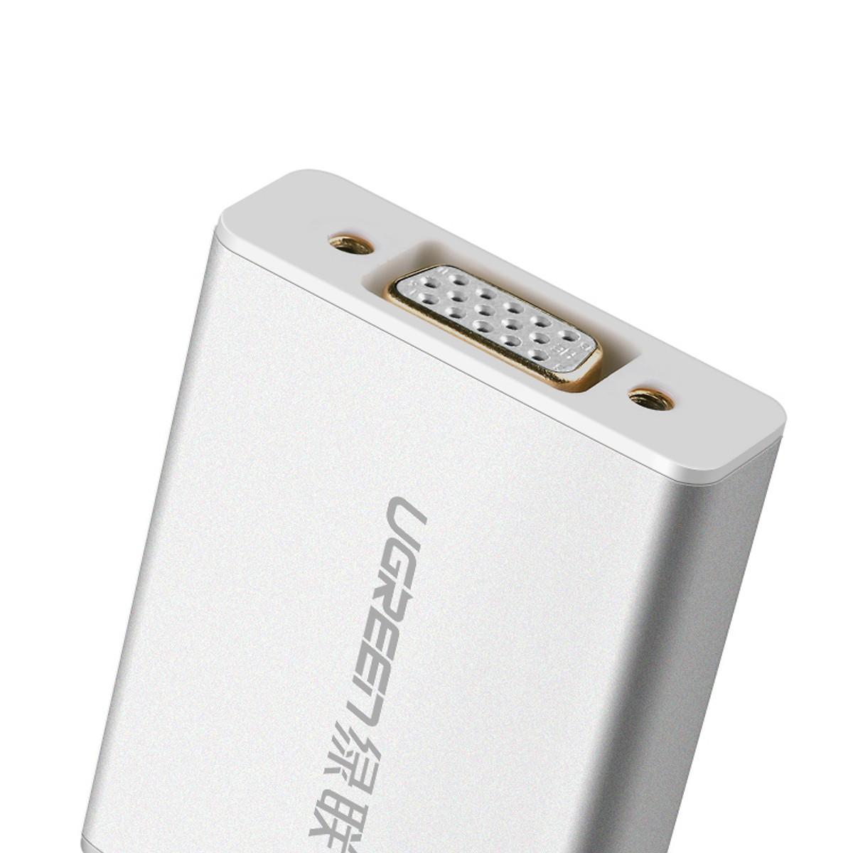 Mini Dp To Vga Converter Đầu Chuyển Đổi Aluminum With Audio Md107 - 10437 Ugreen - Hàng Chính Hãng