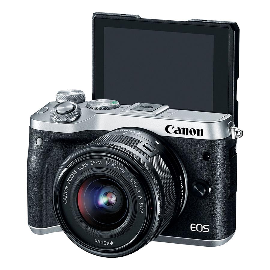 Máy Ảnh Canon EOS M6 Kit 15-45mm (Bạc) - Hàng Chính Hãng (Tặng Kèm Thẻ Nhớ Và Túi Đựng Máy Ảnh)
