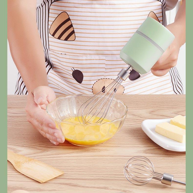 Máy Đánh Trứng Không Dây - Sử Dụng Pin Sạc Công Suất Cao Nhỏ Gọn