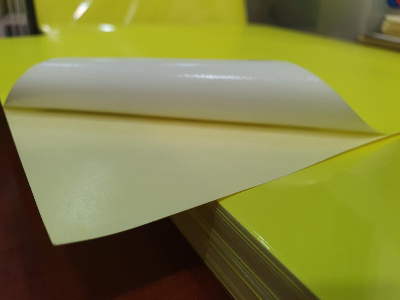 Decal Pc màu Vàng Dạ Quang