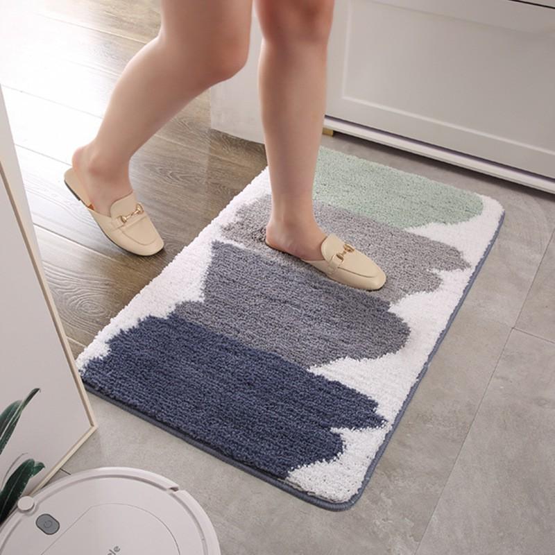 Thảm lau chân nhà tắm siêu thấm cao cấp chất liệu sợi lông cừu dày mềm mại - Hàng nhập khẩu