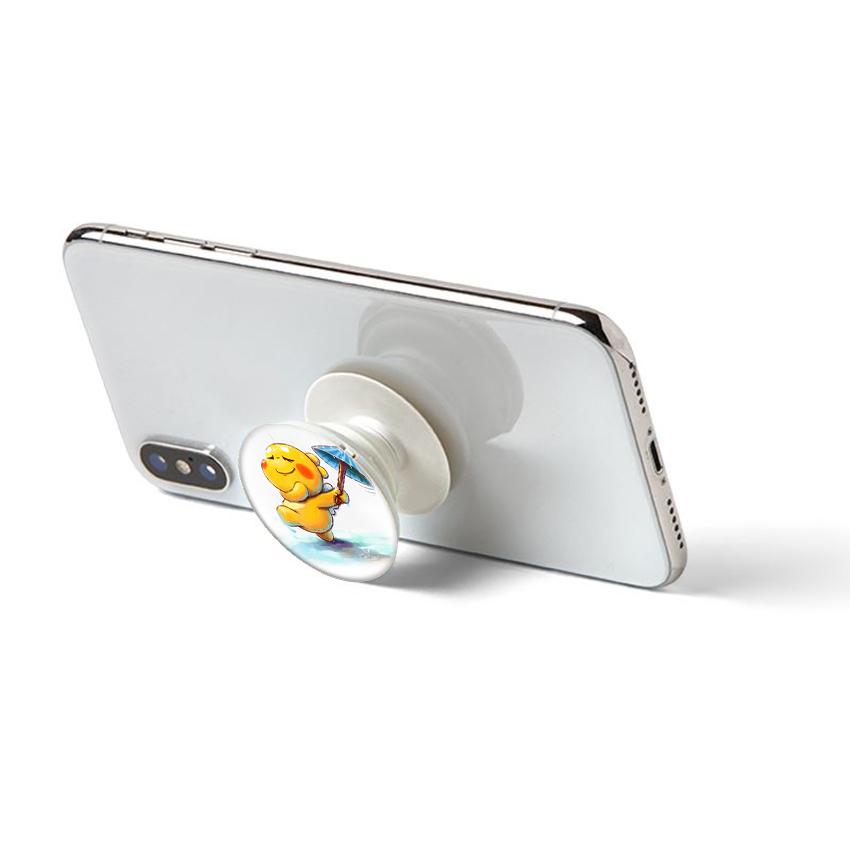 Gía đỡ điện thoại đa năng, tiện lợi - Popsockets - In hình RAIN 01 - Hàng Chính Hãng