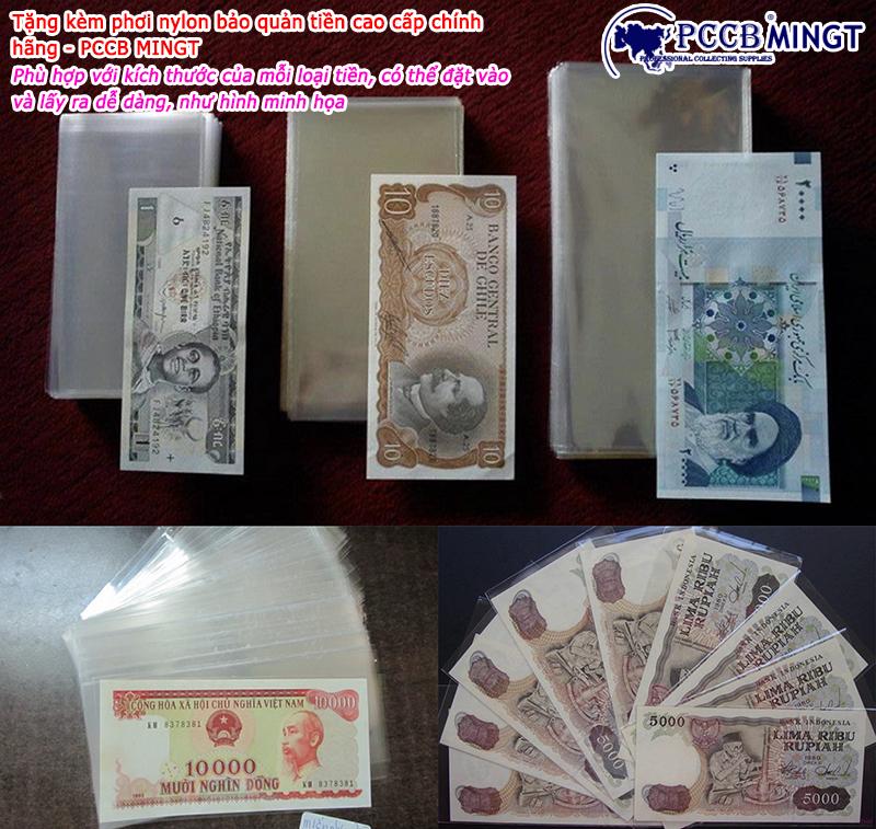 Tiền 1 Dinar của Libya ở châu Phi , tiền Polyme , tặng phơi nylon bảo quản tiền
