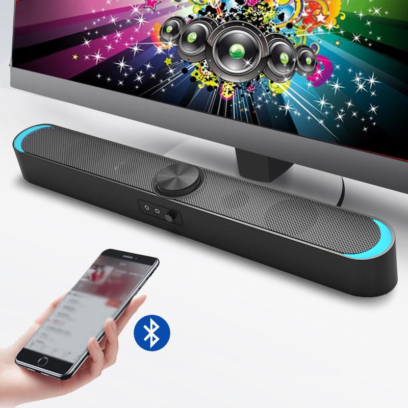 Loa Vi Tính Thông Minh V-198, Hỗ Trợ Bluetooth, Karaoke, Hiệu Ứng Đèn Led Mặt Trăng Cao Cấp