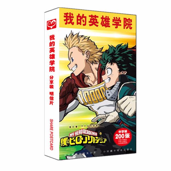 (BÌA NGẪU NHIÊN) Hộp ảnh POSTCARD mẫu mới BOKU NO HERO ACADEMIA - HỌC VIỆN ANH HÙNG anime