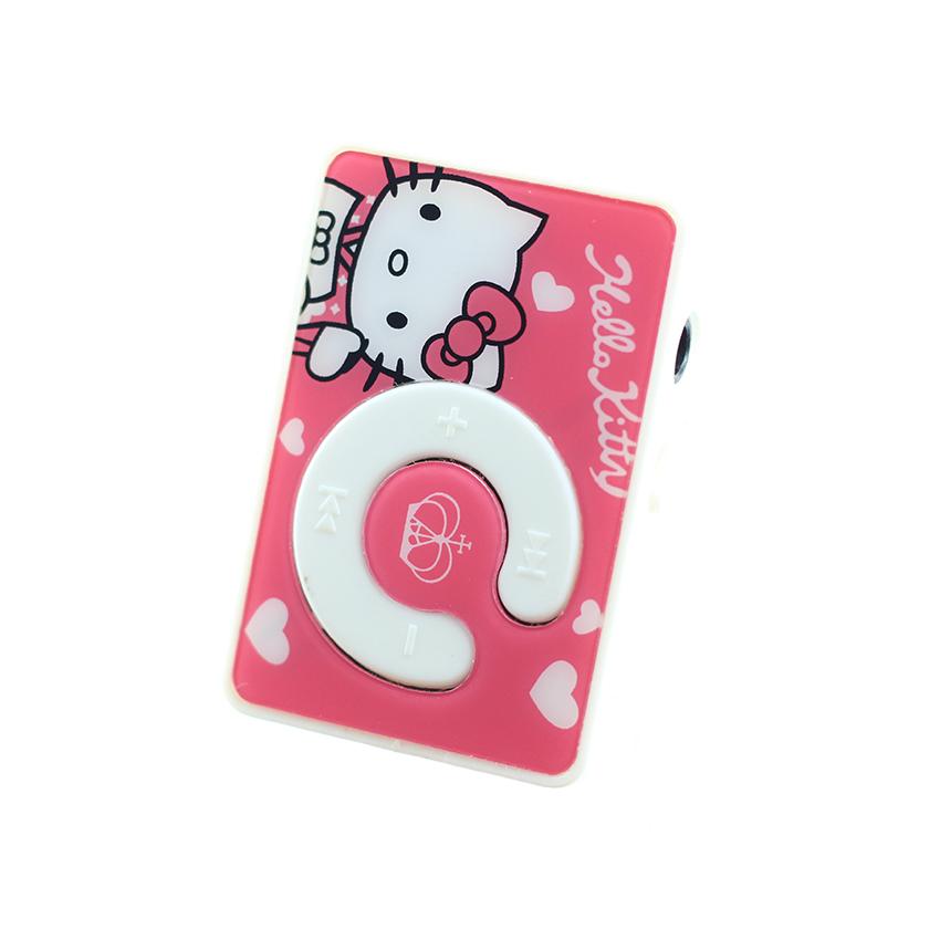 Máy nghe nhạc mp3 chữ C họa tiết hình cô mèo đáng yêu tặng tai nghe và dây sạc