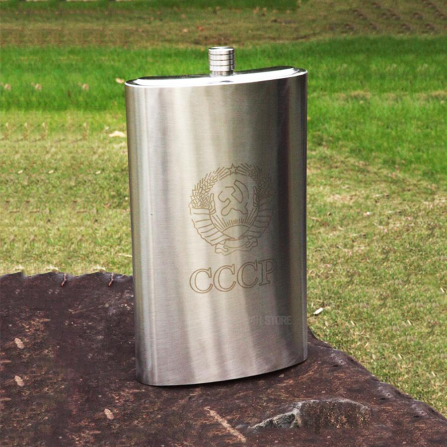 Bình INOX Đựng Rượu CCCP Truyền Thống 5L | Tặng Kèm Gáo Dừa Múc Rượu và Bao Da
