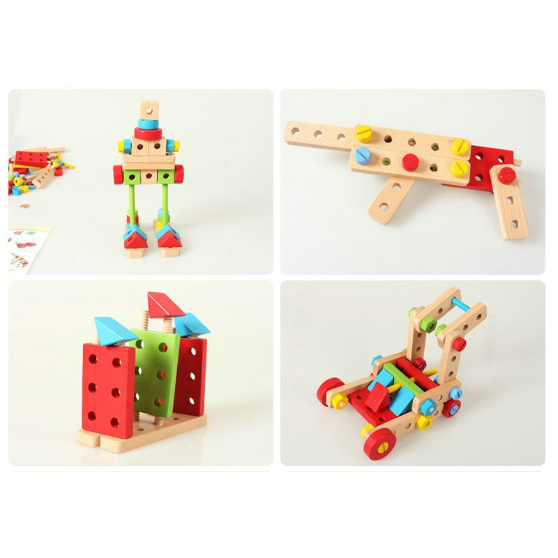 Bộ đồ chơi lắp ráp sáng tạo - đồ chơi gỗ