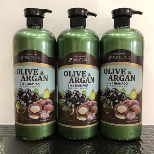 Dầu gội Olive & Argan 2 trong 1 3W CLINIC OLIVE&ARGAN 2 IN 1 SHAMPOO