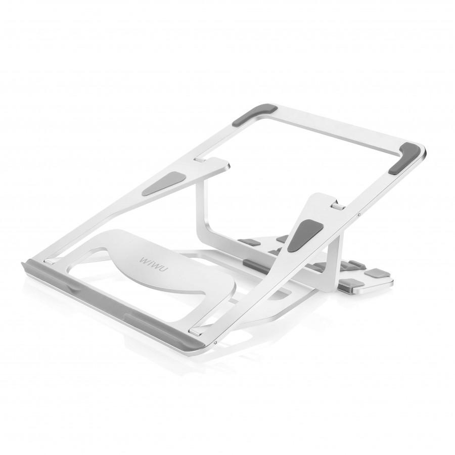 Giá đỡ Aluminum Wiwu S100  cho Macbook laptop 13 inch đên 15.5 inch giúp tản nhiệt thiết kế nhôm nguyên khối - Hàng chính hãng
