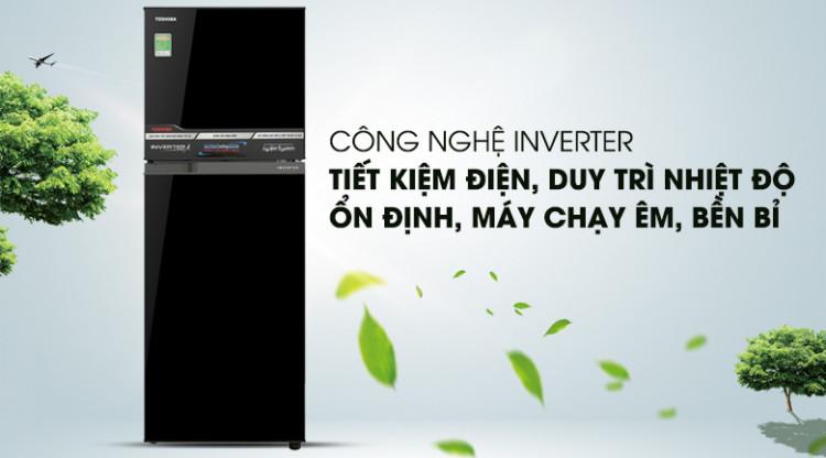Tủ lạnh Inverter hiện đại, vận hành tiết kiệm điện  - Tủ lạnh Toshiba Inverter 233 lít GR-A28VM(UKG)