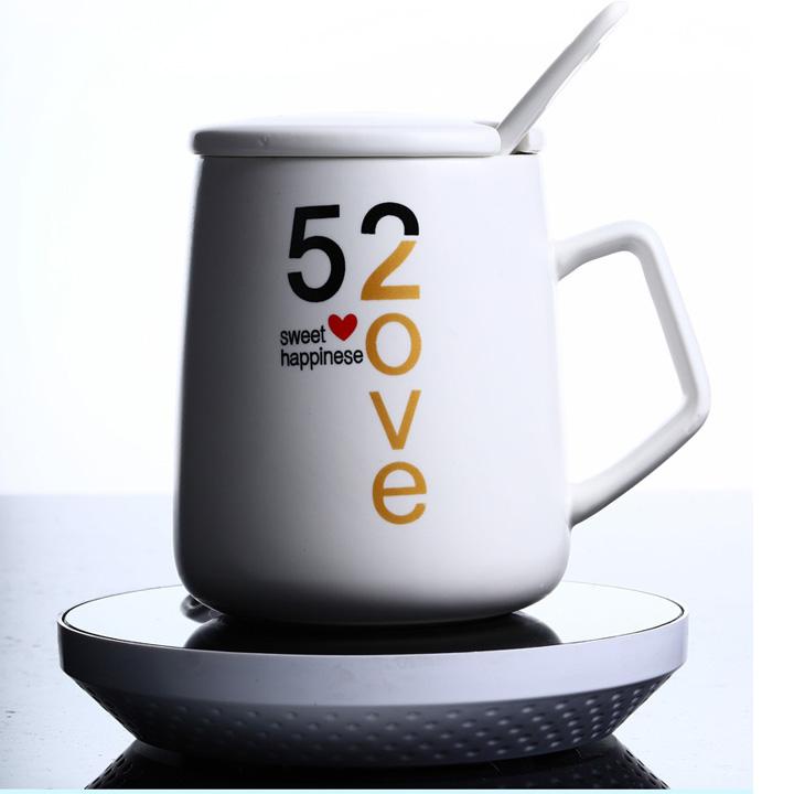 Đế hâm nóng cốc điện tử kèm ly uống cà phê cao cấp
