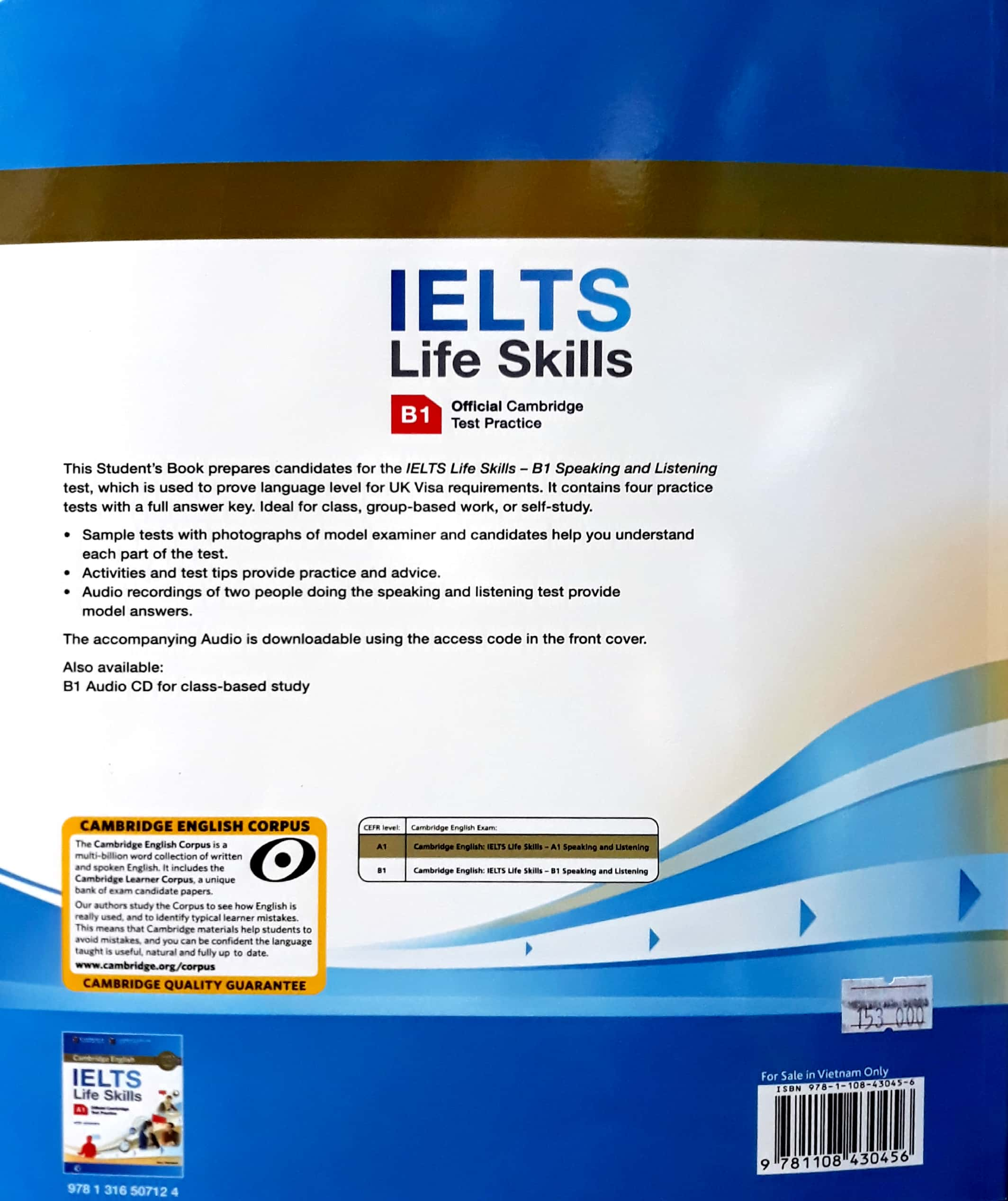 IELTS Life Skills Official Cambridge Test Practice B1 Student's Book with  Answers and Audio Fahasa Reprint Edition (Sách Không Kèm Đĩa) - IELTS Books