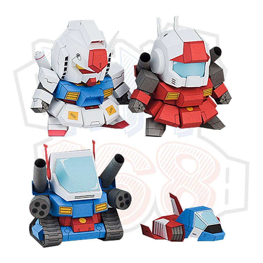 Mô hình giấy Robot chibi mini 5cm Gundam V2