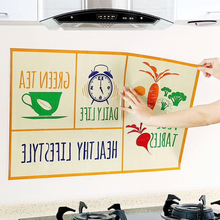 Giấy dán bếp cách nhiệt, chống dầu mỡ cao cấp - Họa tiết ngẫu nhiên