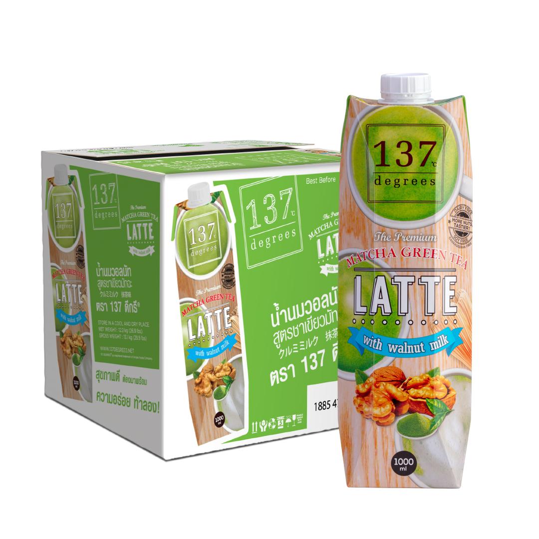 Thùng sữa Óc Chó 137 Degrees vị trà xanh 1L
