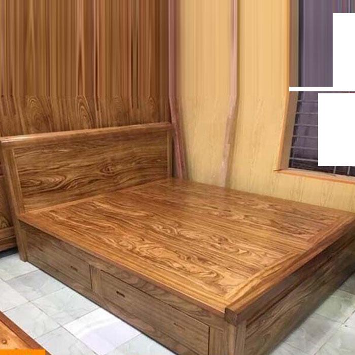 Giường Ngủ Gỗ Hương Xám Ngăn Kéo Dạt Phản , giường ngủ gỗ cao cấp