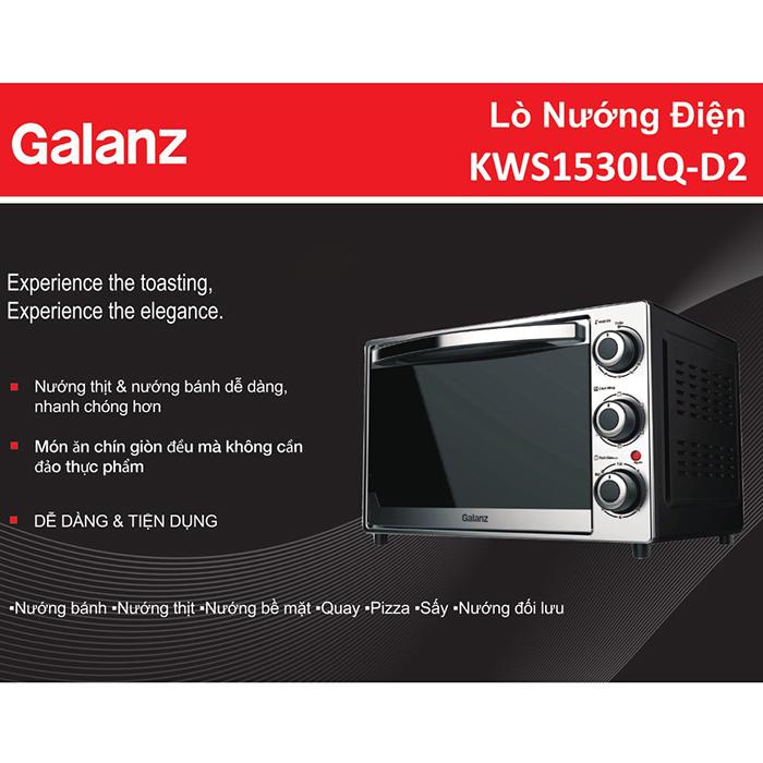 Lò Nướng Đối Lưu Galanz KWS1530LQ-D2 (30 Lít) - Hàng Chính Hãng