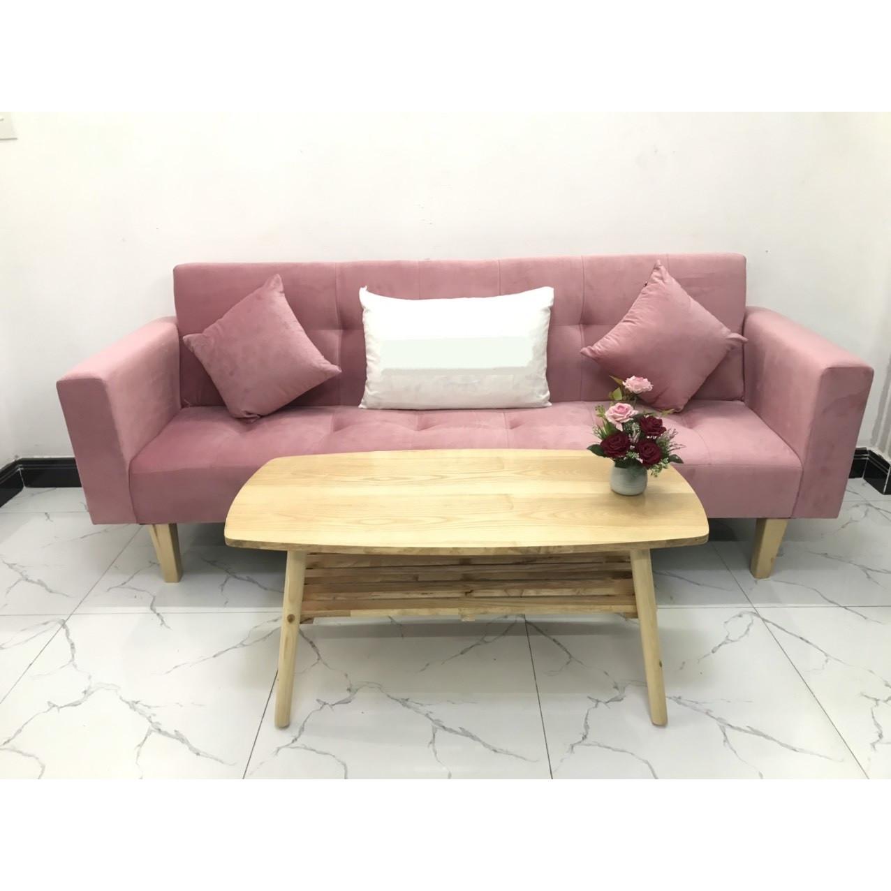 Bộ ghế sofa giường sofa bed tay vịn phòng khách linco10 sopha