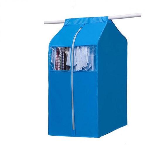 Túi treo quần áo có khóa kéo, nhiều màu, chọn màu theo ý- Giỏ treo bảo vệ quần áo chống ẩm mốc, bụi bẩn, chống thấm nước hiệu quả+ Tặng kèm hình dán ngẫu nhiên