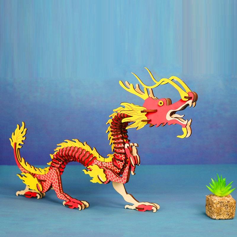 Đồ chơi lắp ráp gỗ 3D Mô hình Rồng Dragon Laser