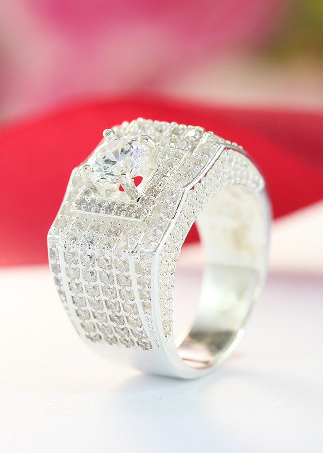 Nhẫn bạc nam đẹp mặt đá cao cấp NNA0094 - 18