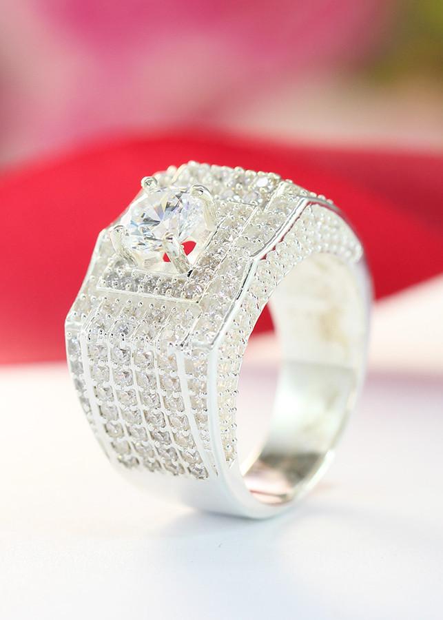 Nhẫn bạc nam đẹp mặt đá cao cấp NNA0094 - 12