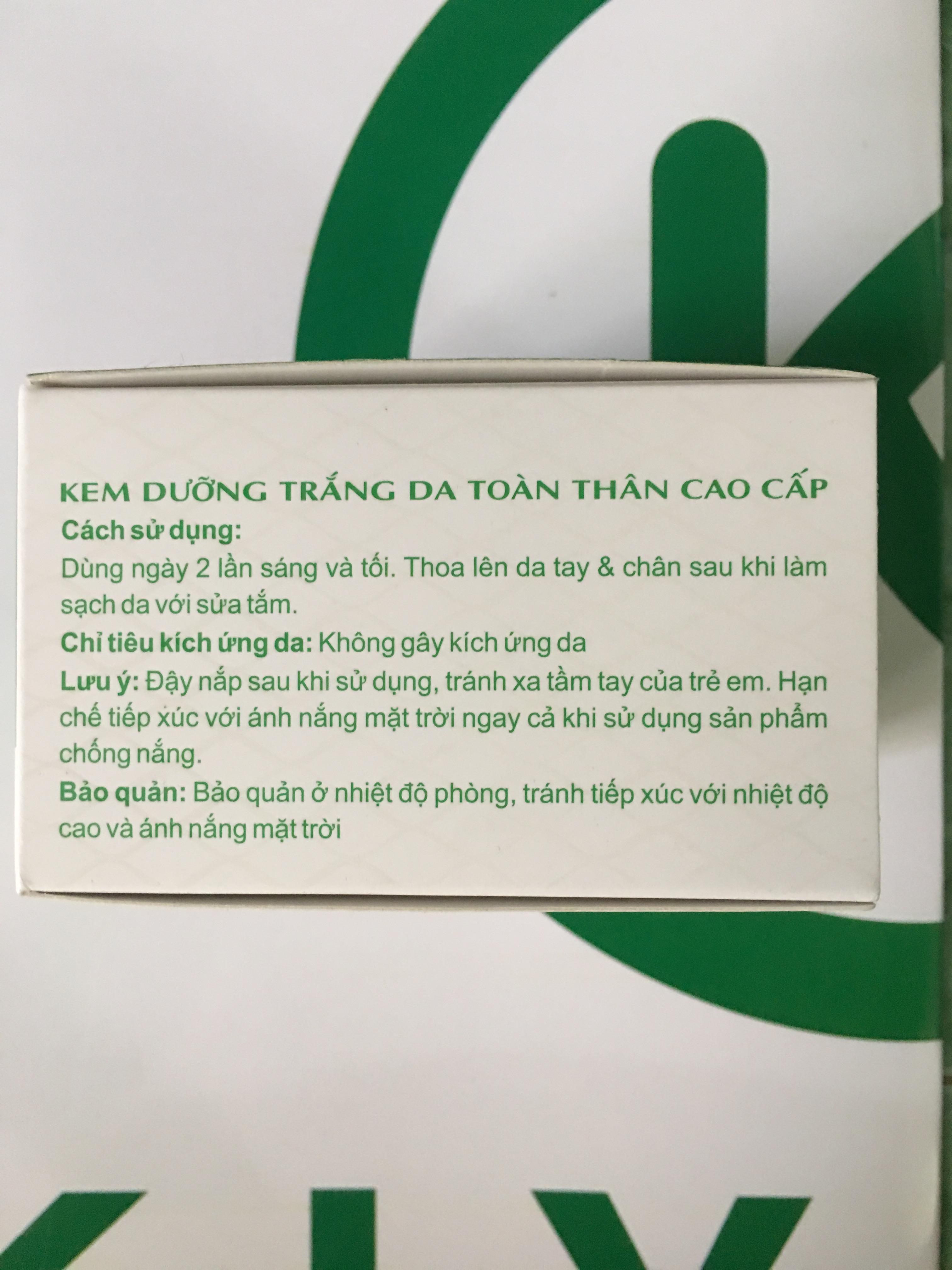 KEM DƯỠNG TRẮNG DA TOÀN THÂN CAO CẤP-KIYOMI-250GR