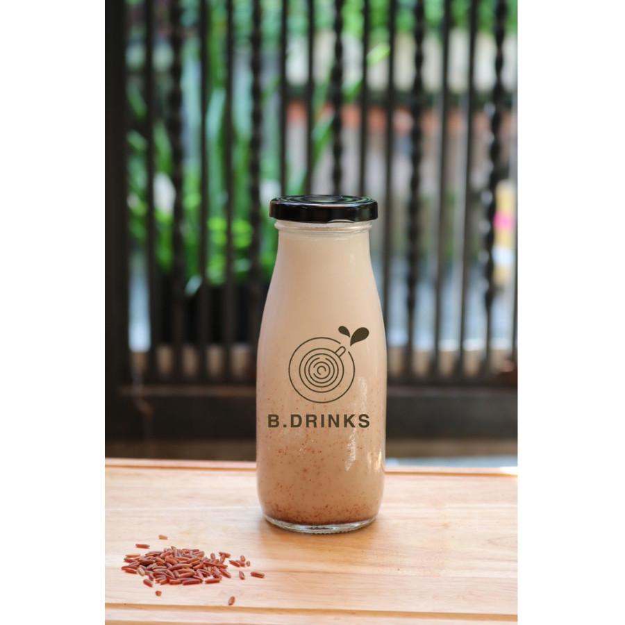 Chai thủy tinh đựng sữa hạt , nước trái cây 330ml - 10 chai