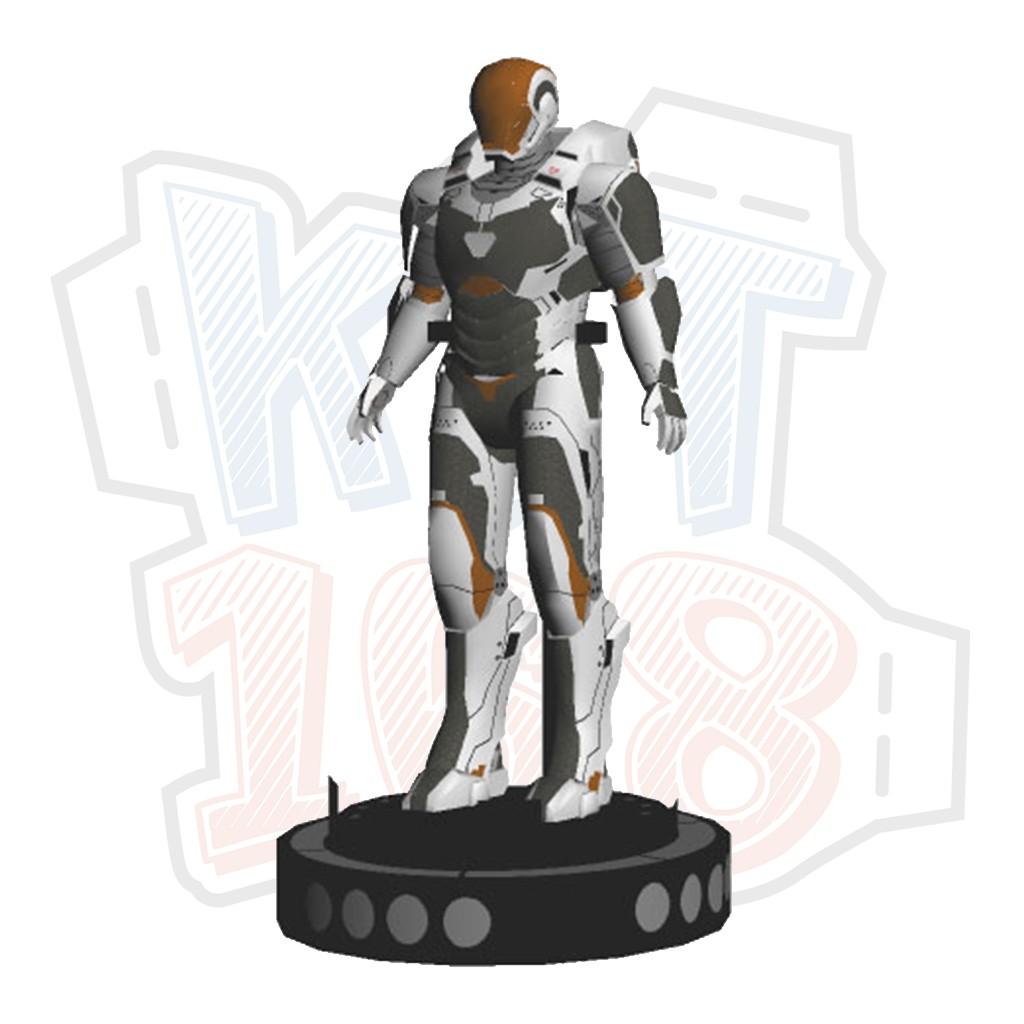 Mô hình giấy Marvel Avengers Robot Iron Man Mk39 Gemini