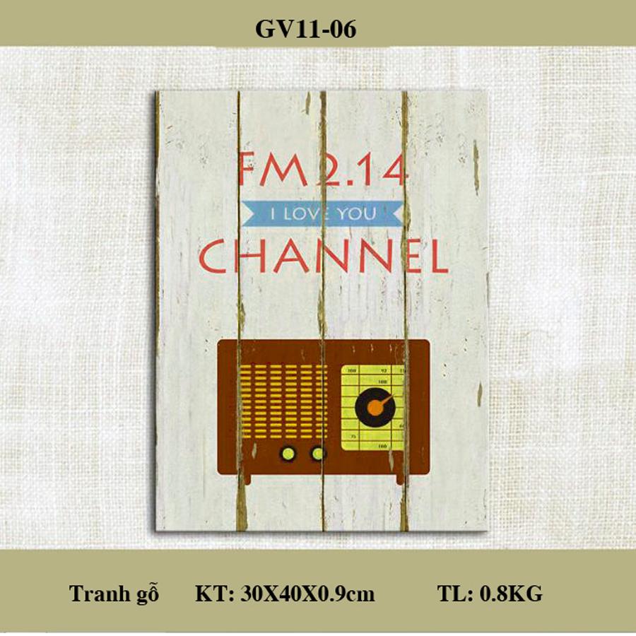 Tranh treo tường gỗ sơn dầu Vintage - FM 2.14 kích thước 30x40cm