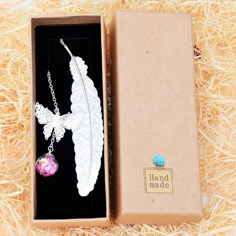 Bookmark Lông vũ mix Cánh bướm đánh dấu trang siêu xinh