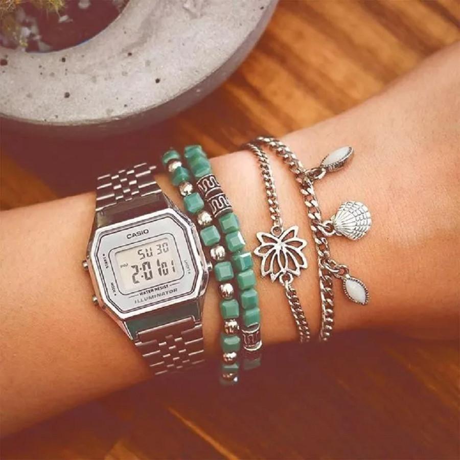 Đồng hồ nữ Casio chính hãng điện tử LA680WA-7DF (29mm)