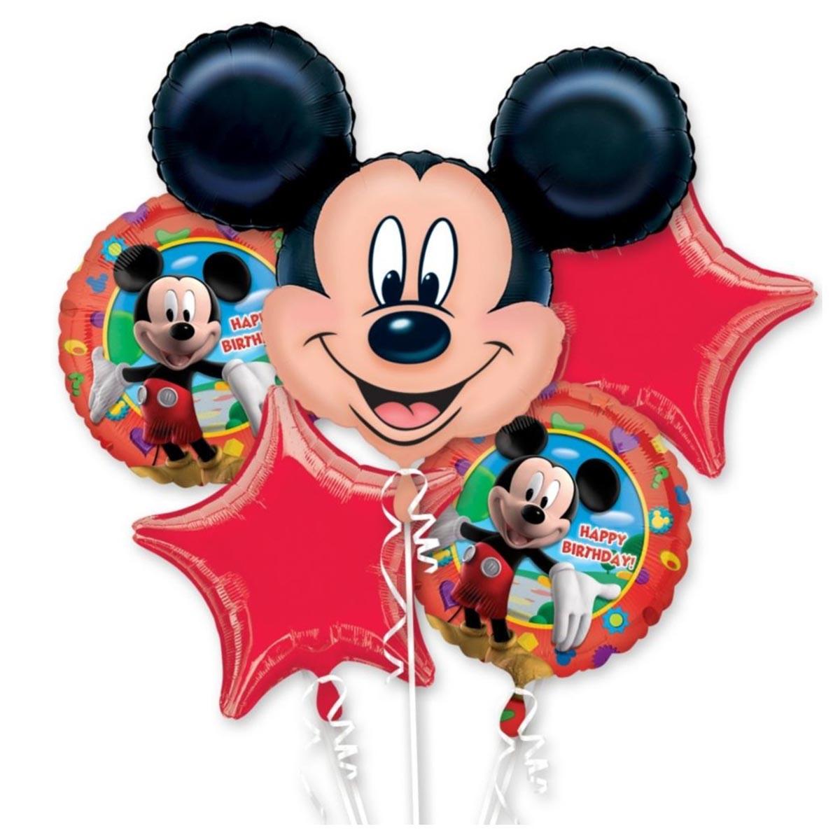 Chùm Bóng Trang Kim Mickey Mouse (5 quả)
