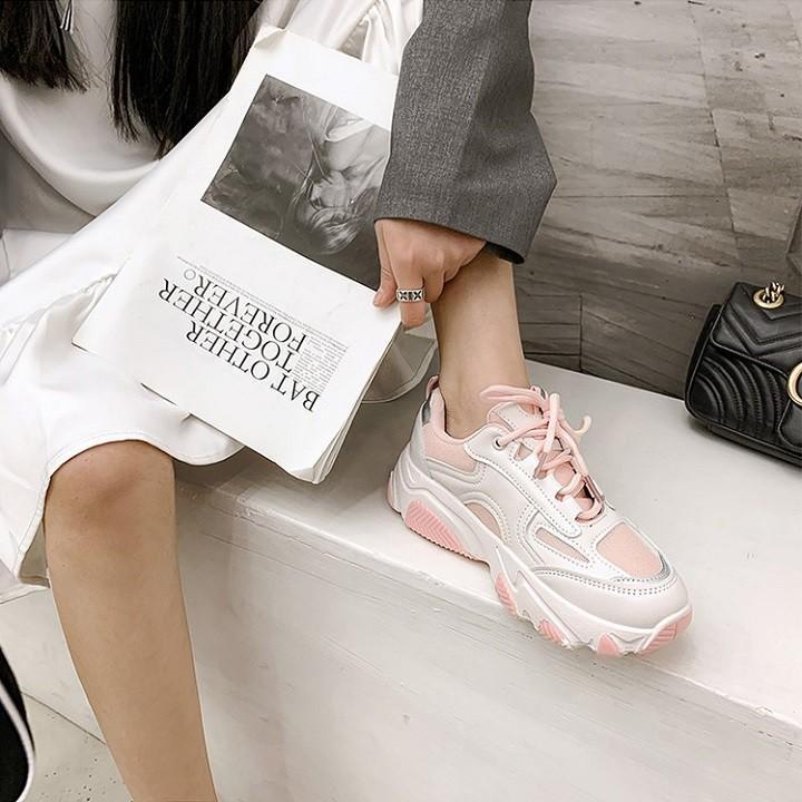 Giày thể thao nữ màu trắng, Giày nữ trắng đế cao