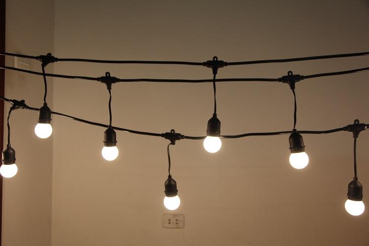 Bộ 20 bóng đèn led búp chanh 3w trang trí trong nhà ngoài trời hàng chính hãng.