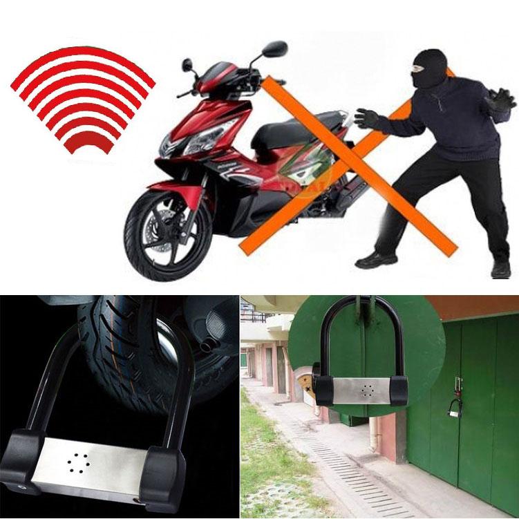 Khóa xe máy chữ U, khóa chống trộm chữ U an toàn LK605