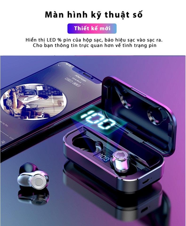 Tai nghe Bluetooth chuẩn 5.0 - chất âm 6D hoàn hảo