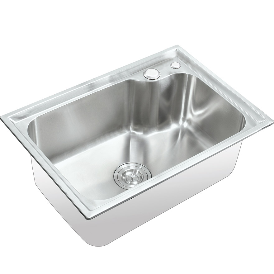 Chậu rửa chén Inox SUS304 1 hố Eurolife EL-C6243 (Trắng bạc)