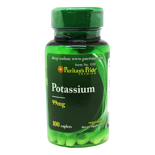Thực Phẩm Chức Năng - Viên Uống Bổ Sung Kali Puritan'S Pride Potassium Citrate (100 Viên)