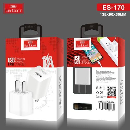 Bộ Củ sạc và dây cáp sạc lightning Earldom ES-170I - Hàng Chính Hãng