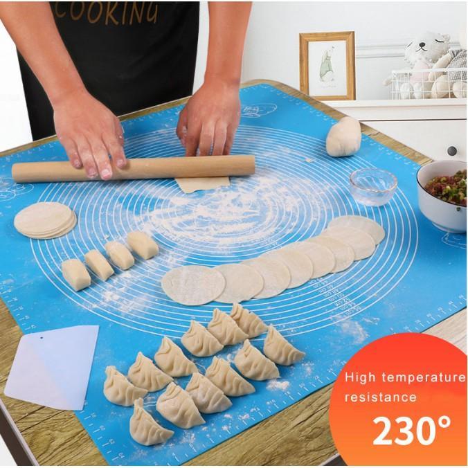 Tấm lót nhào bột/Thảm lót nướng, nhào bột, cán bột bằng silicon 45*65cm-50*40cm-40*30cm