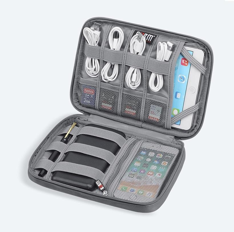Túi đựng máy tính bảng Ipad mini, cáp sạc điện thoại và phụ kiện công nghệ chống nước Bubm - Hàng nhập khẩu