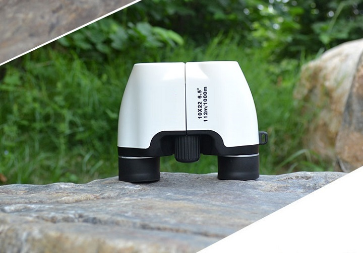 Ống nhòm du lịch mini độ phóng đại 10 lần chất lượng cao (giao màu ngẫu nhiên)- (Tặng đèn pin bóp tay mini-màu ngẫu nhiên)